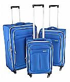 Chatsworth  סט מזוודות בד 3 יח' | 28 | 24 | 20 אינטש Calpaks -- קלות משקל במיוחד -- צבע כחול