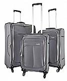 Chatsworth  סט מזוודות בד 3 יח' | 28 | 24 | 20 אינטש Calpaks -- קלות משקל במיוחד צבע אפור כהה